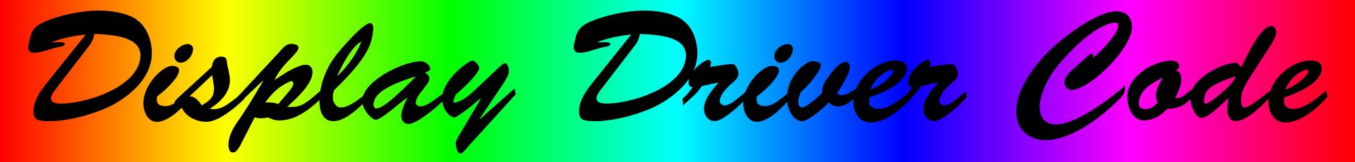EDDC - Enhanced Display Driver Code